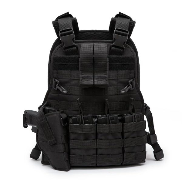 Airsoft Molle Tactical Vest - Full Package - Black