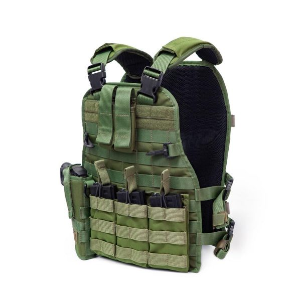 Airsoft Molle Tactical Vest - Full Package - Side