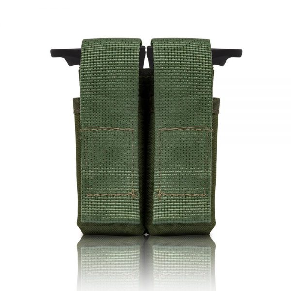Tactical Double Pistol Mag Pouch - Olive