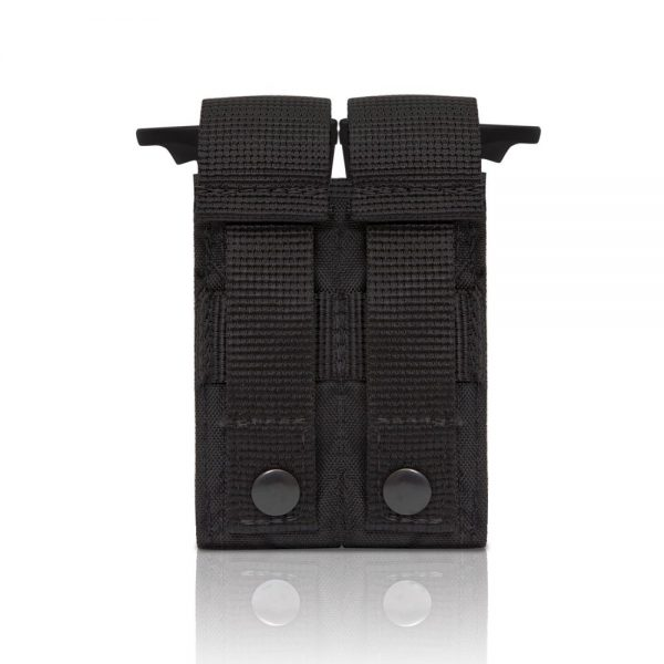 Tactical Double Pistol Mag Pouch - Black back